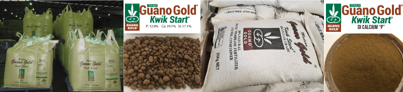 Madura Guano Gold-Kwik Start is successfully included as an important component in a full range of organic, bio-dynamic and conventional custom blends.
