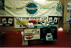 Promoting Guano Gold at expos in the late 1990s.