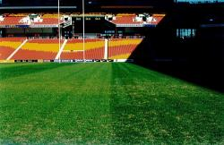 Suncorp Stadium in Brisbane after an Agrispon organic fertiliser program in 2005.