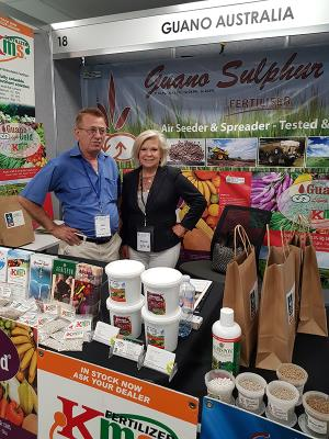 Promoting the Guano Gold natural fertiliser product range at the Australian Biological Farming Conference in Queensland.